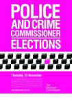 Police and Crime Commissioners election poster